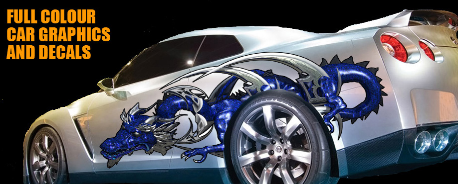 Pair Of Full Colour Dragon Car DecalsGraphics Free Delivery EBay - Graphics for car bonnets